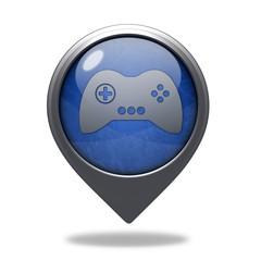 game pointer icon on white background