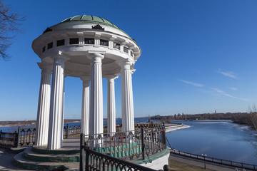 Embankment of the river Volga in Yaroslavl