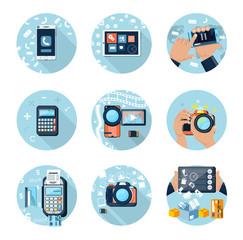 E-Business concept, computers, smartphone pc