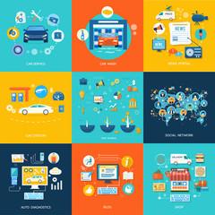 Car service car wash social media online shop