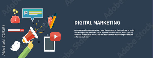 Icons for digital marketing - 72592178