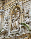 Statue of Saint Anne on Church of St. Mary Magdalene poster