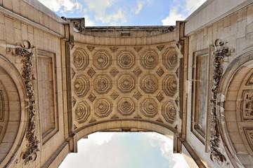 Triumphal Arch in Cinquantenaire Parc in Brussels
