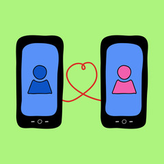 Doodle phones with love talk