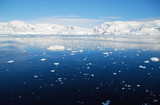 blue antarctic ocean