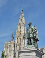 Memorial of painter Peter Paul Rubens in Antwerp