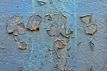 Rusty metal wall as a gloomy background image