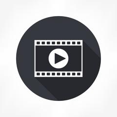 film strips & play button icon
