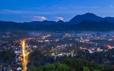 Viewpoint and landscape at luang prabang , laos.