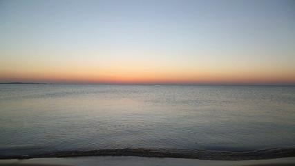 beauty landscape sea before sunrise