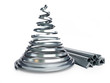 Christmas tree metal on a white background - 72595557