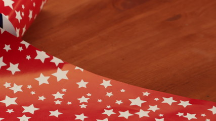 Wrapping Christmas gifts - additional closeup shots