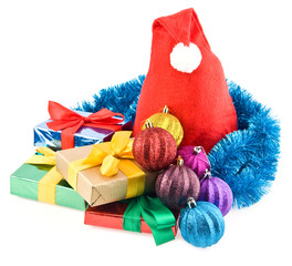 gifts and christmas decorations