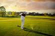 Leinwandbild Motiv Man playing golf