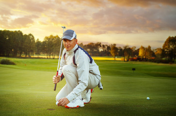 portrait of man golfer