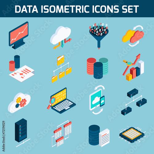Data analysis icons - 72596129