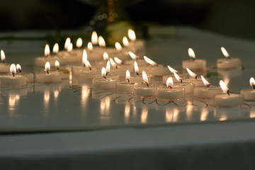 Candles of remembrance for child loss