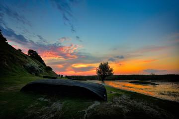 landscape at sunset/sunrise