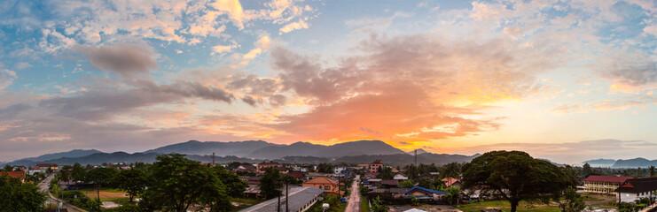 Panorama and Landscape in VangVieng, Laos.