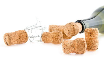 bottle of wine and cork