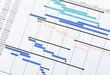 Leinwanddruck Bild - Project planning gantt chart