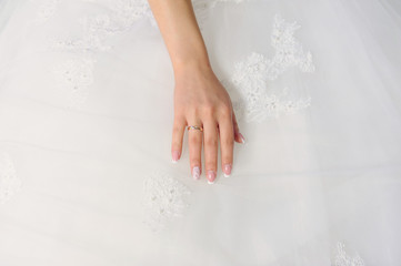 Bride's Hand with Golden Ring