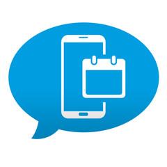 Etiqueta comentario smartphone calendario
