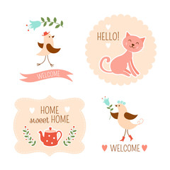 Welcome home decorative elements