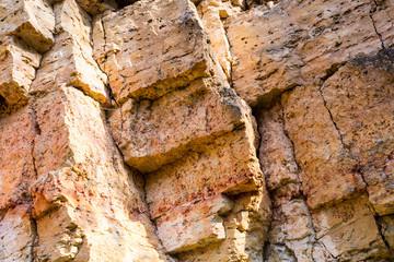 sandstone cliffs with water source
