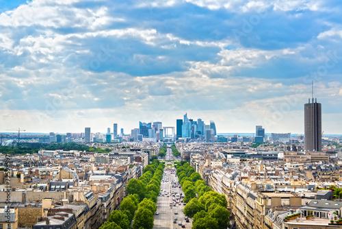 Papiers peints Paris La Defense business area, Grande Armee avenue. Paris, France