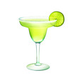 Margarita cocktail realistic - 72598956