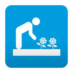 Etiqueta tipo app jardineria