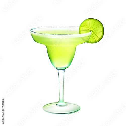 Fototapeta Margarita cocktail realistic