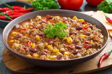 Mexican dish chili con carne