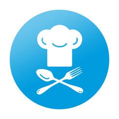 Etiqueta tipo app redonda gorro de chef