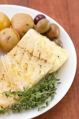 cod fish with olives and potato