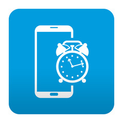 Etiqueta tipo app smartphone despertador