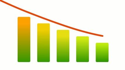Grafico di declino del business