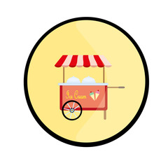 ice cream cart button