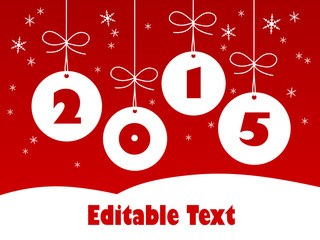 2015 EDITABLE TEXT Card (happy new year christmas)