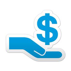 Pegatina simbolo crowdfunding