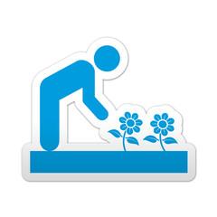 Pegatina simbolo jardineria
