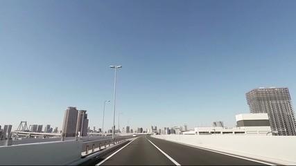 首都高速 レインーブリッジ 銀座方面