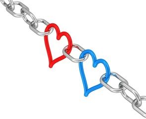 Liebe, Teamwork - zwei starke Herzen