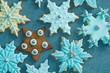 canvas print picture - Weihnachtsplätzchen mit Fondantüberzug