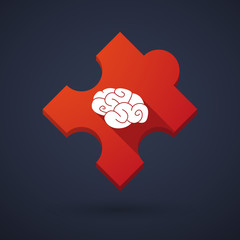 Puzzle piece icon with a brain