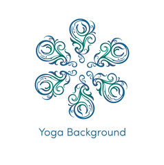 blue-green Yoga ICOn