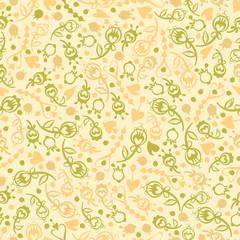 vector seamless decor flowers