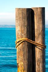 Wooden Bollards - Garda Lake Italy