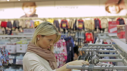 girl in shop